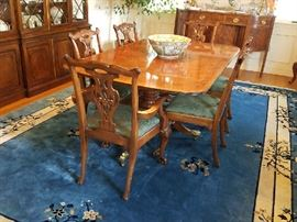 Henredon Dining Set , Table, Chairs, Sideboard and Breakfront