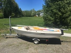 14 foot day sailor with trailer from Hobie Cat.  Fully equipped.  Like new.