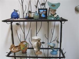 Head Vase on top shelf