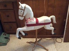 Vintage cast metal horse