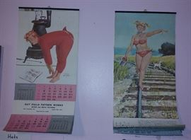 vintage Hilda pin up calendars