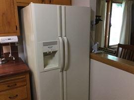 Almond Frigidaire Refrigerator