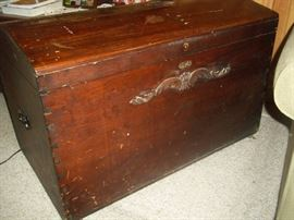 brass / wood trunk