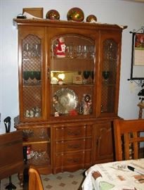 maple china cabinet BUY IT NOW $ 165.00