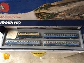 Marklin HO Airport Express model train set.