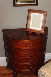 mahogany demilune chest