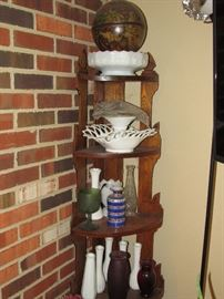 Oak Corner Shelf