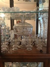 just a fraction of the awesome complete sets of crystal glasses