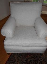 Pair of these white chairs plus matching ottoman