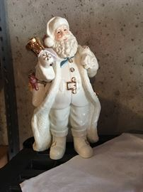White Porcelain Santa