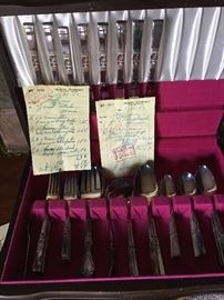 Community Silverplate Service for 8. Purchased the the '50s from Wyeth Company