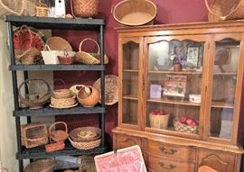 China Cabinet and Tons of Baskets to choose from