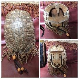Turtle Shell Medicine Belt Pouch.