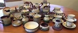 Assortment or Torquay/Motto Ware pottery