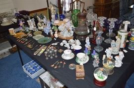 Snow globes, pewter, cloisonette, figurines