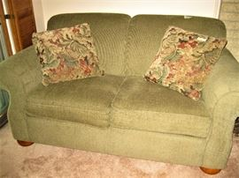 Nice Neutral Color Love Seat