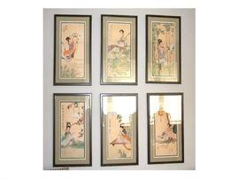 Asian Art On Silk
