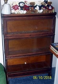 3 pc. Barrister's book case (Needs some TLC)