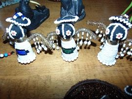 Small beaded figurines from Africa