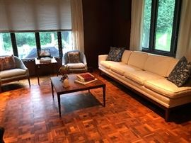 Reoval Coffee and End Table, Midcentury Sofa