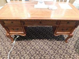 Oak Desk  5 ft length x 2  Width x 2-foot ht.