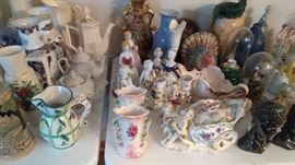 Antique porcelain figurines and more