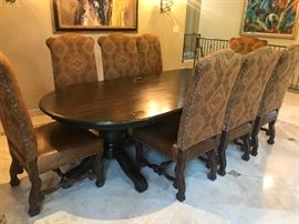 Phillip skinner Dininjng table and ladlows custom chairs (10)