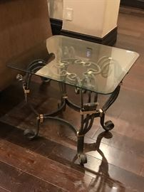 Ladlows ornate end tables and console tAble