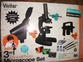 Vivitar VIV-MIC-4 100 Pc. Microscope Set - 300-600 ...