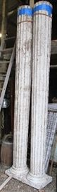 HUGE Catawba Barn Find Antique Fluted Wood Porch Pillars