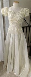 1930's Wedding Dress with Cathedral Train