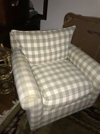 PLAID CHAIR-2 AVAILABLE
