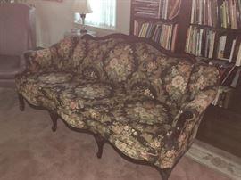 Wild floral sofa