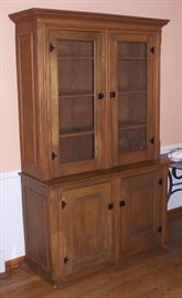 Antique Pine Step back 2 Piece Cupboard Cabinet