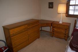 Mid-Century Era Dresser & Night Stand