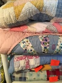 hand-stitched quilts