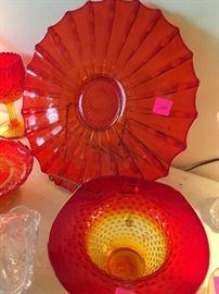 amberina toned glassware