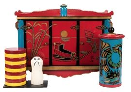 Haunted Cabinet and Discs of Quong Hi. Estimated between 2,500/3,500