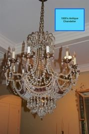 1920's Antique Chandelier