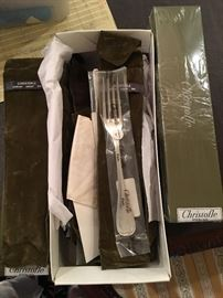 Christofle Sterling 15 Pc Flatware New - Malmaison