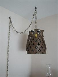 An owl lamp