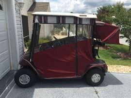 2002 EZ Go Electric Golf Cart.  Batteries from 2014