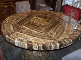 "Onyx table, 60"" wide, 29"" high, its awsome"