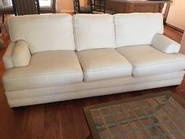 White Broyhill Sofa $225