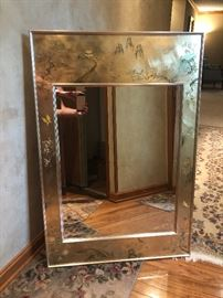 Beautiful Labarge entry mirror by artist K. Widing (1981)
