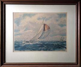 Yngve Edward Soderberg (1896-1971) Watercolor Framed Print