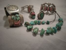Stunning Navajo old pawn and custom jewelry.... Just a few pieces from a lifelong collector that we will offer throughout the summer series!
