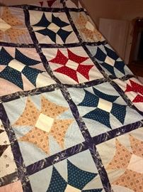 We have a spectacular array of antique quilts ranging from the mid-1800s to the present! Many different patterns!