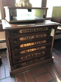 Antique spool box
