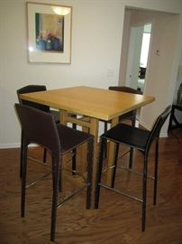 Table and four bar stools